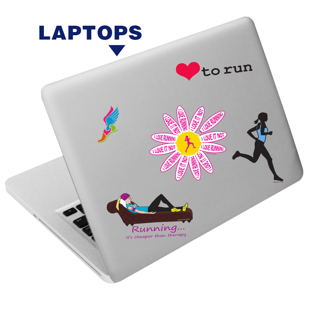 Runners stickers reusable stickers and decals runners reusable sticker set for phones laptops mugs walls amipublicfo Choice Image