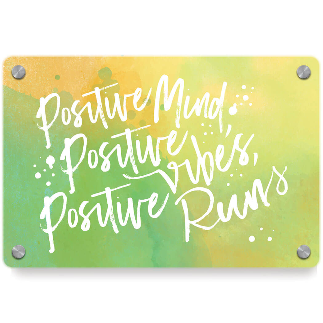 Running Metal Wall Art Panel - Positive Runs | Gone For a Run