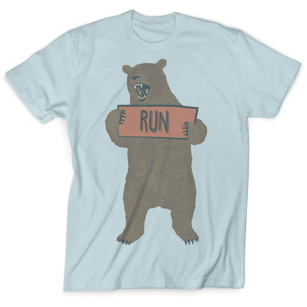 8980263e149c Vintage Running T-Shirt - Trail Bear Click to Enlarge