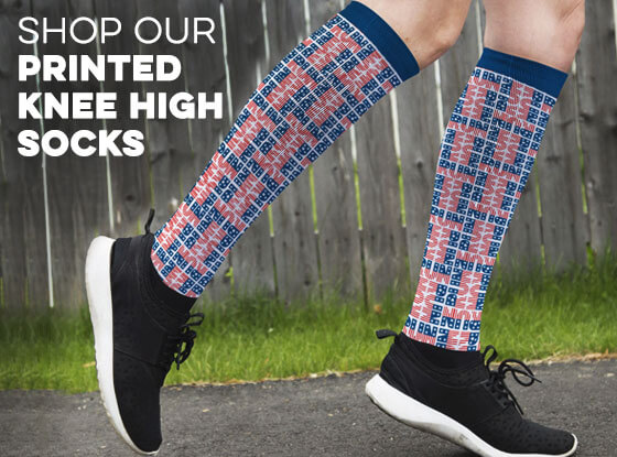 Printed Knee High Socks