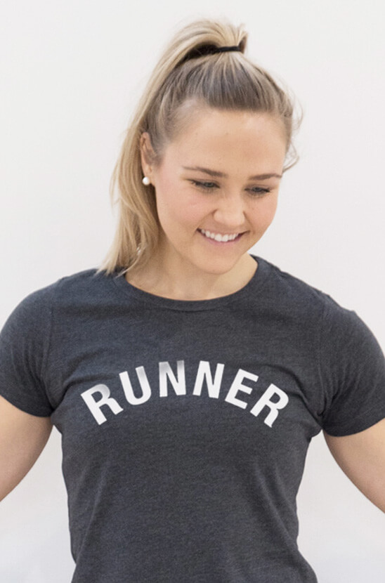 #runlife Runner's Arc Fitted Tee