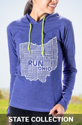 Shop Our State Collection Hoodies for Runners