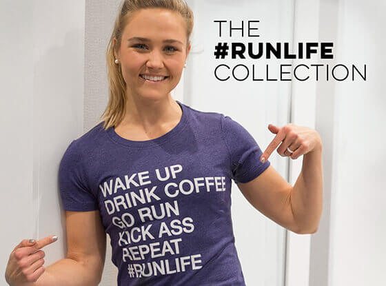 #runlife Runner's Fitted Tees