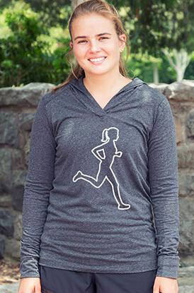 Female Runner Performance Hoodie