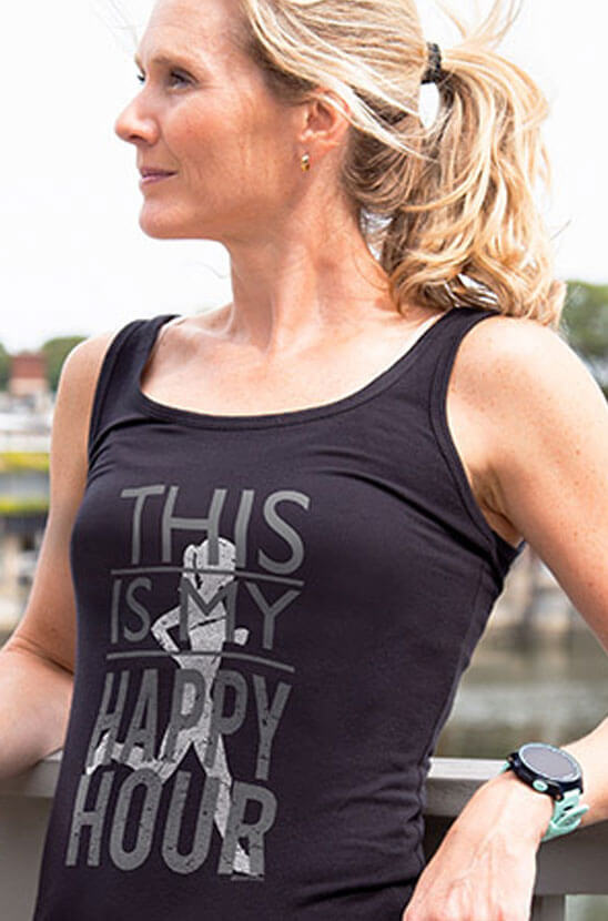 Shop This is My Happy Hour Fitted Tank