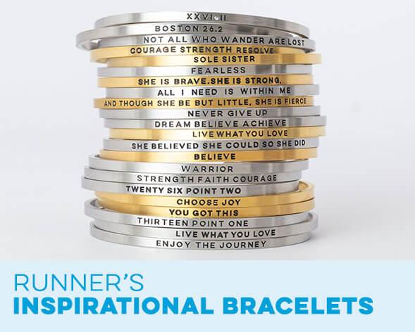 Runner's Inspirational Bracelets