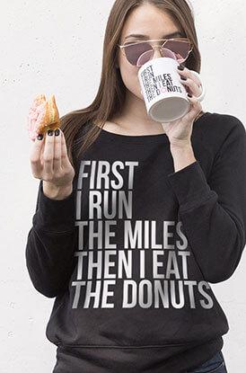 #runlife Runner's Donuts Sweatshirt