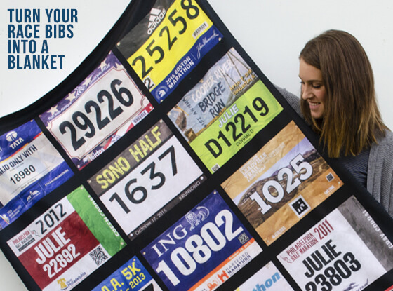 Turn Your Race Bib into a Blanket