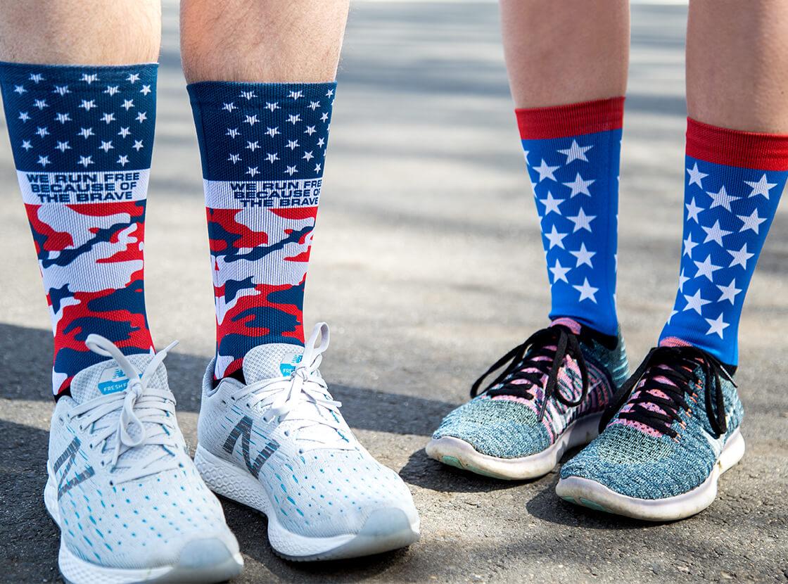 fc1538cf Crew Socks for Runners, Custom Running Crew Socks