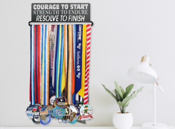 Shop Our Steel Medal Wall Display for Runners