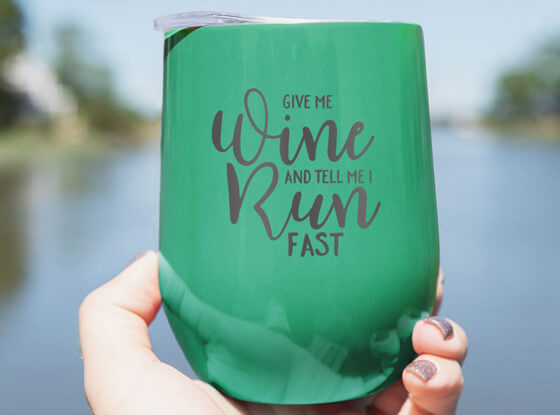 Shop our Running Wine Tumblers