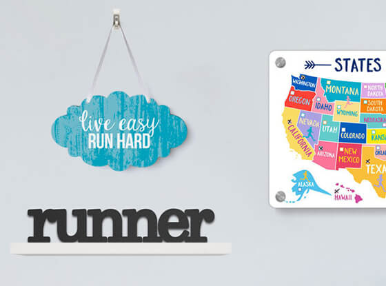 Shop Our Running Wood Signs