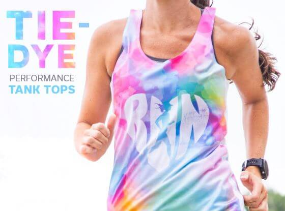 Shop Our Tie-Dye Performance Tank Tops