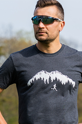 Trail Runner in the Mountains Short Sleeve Tee