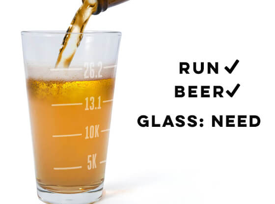 Beer Glasses for Runners – Pint Glasses and Beer Mugs