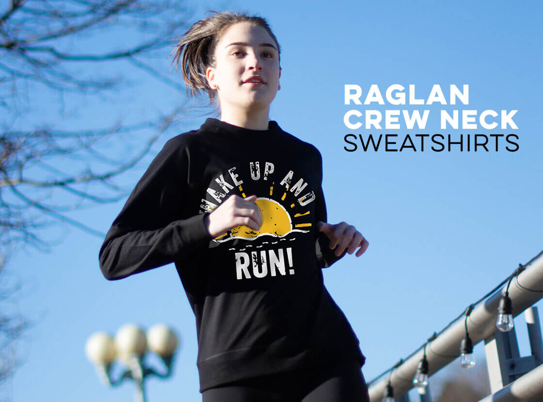 Shop Our Running Raglan Crews