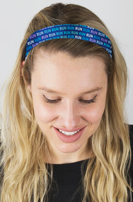 Run Pattern No-Slip Headbands