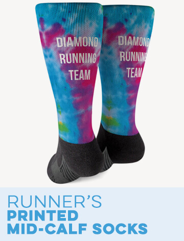 Running Printed Mid-Calf Socks