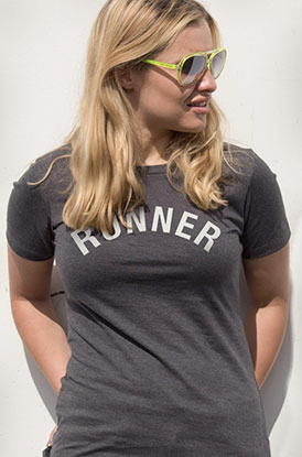 #runlife Runner's Tan Lines Fitted Tee
