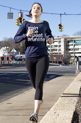 Shop Our Train Race Repeat Wide Neck Sweatshirt