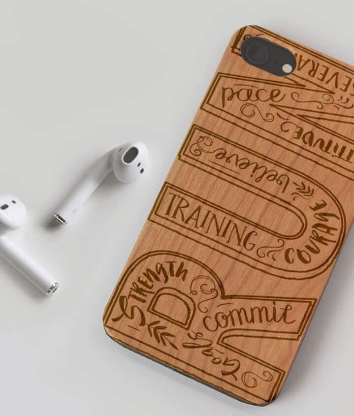Runner Engraved Phone Cases