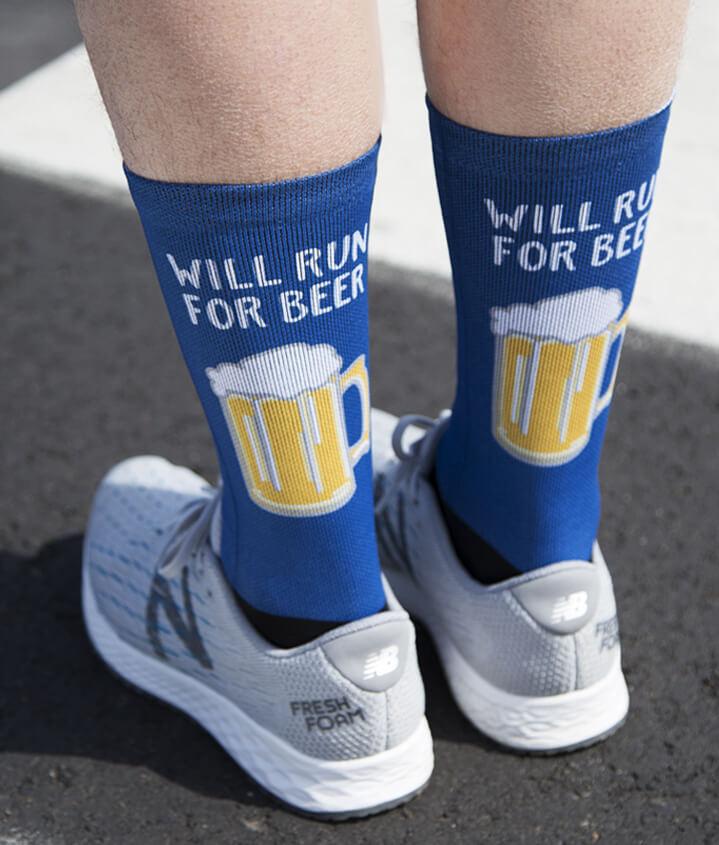 Printed Socks for Runners